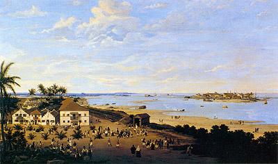 Franz Post - Vista da Cidade Maurícia e do Recife (1657)